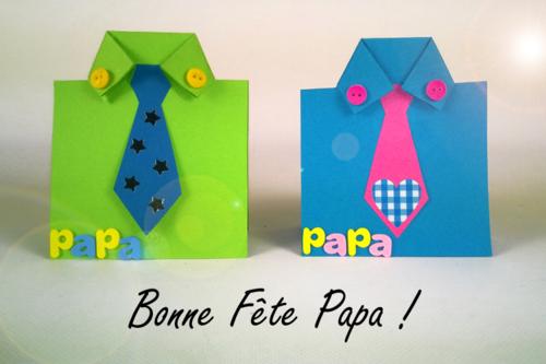Carte cravate et chemises en papier