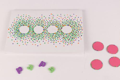 Carte confettis