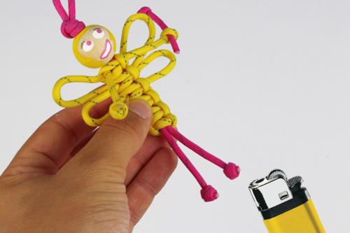 Porte-clés en paracorde : Fée