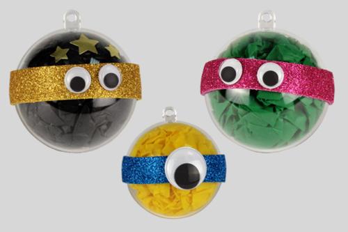Boules de Noël - personnages rigolos