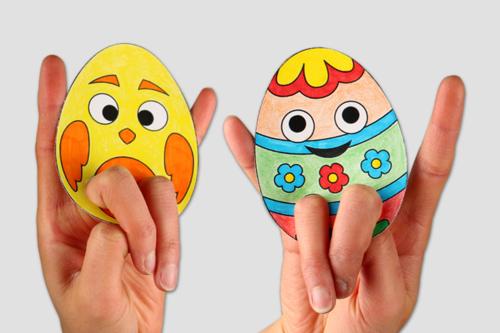 Marionnettes à doigts - Pâques