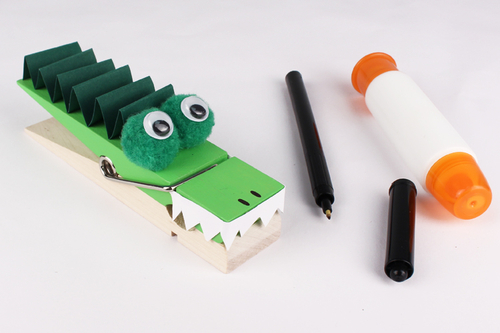 Pince mémo crocodile
