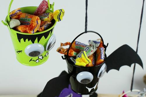 Mini seaux à bonbons pour Halloween