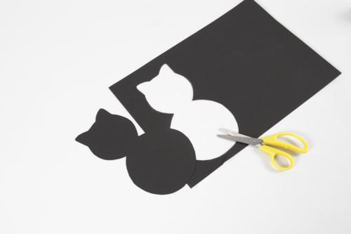 Découpage de la silhouette chat -