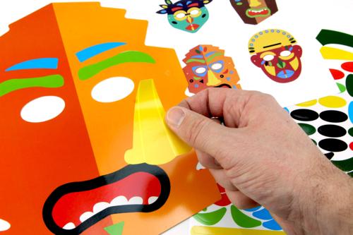 Étape 1 : fabrication du masque Tiki -